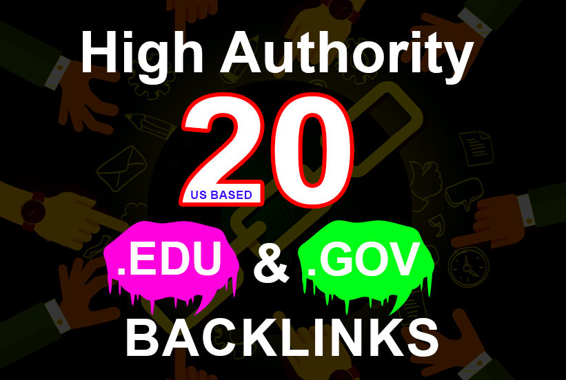20 Edu/Gov Backlinks and 65 blog comment backlinks