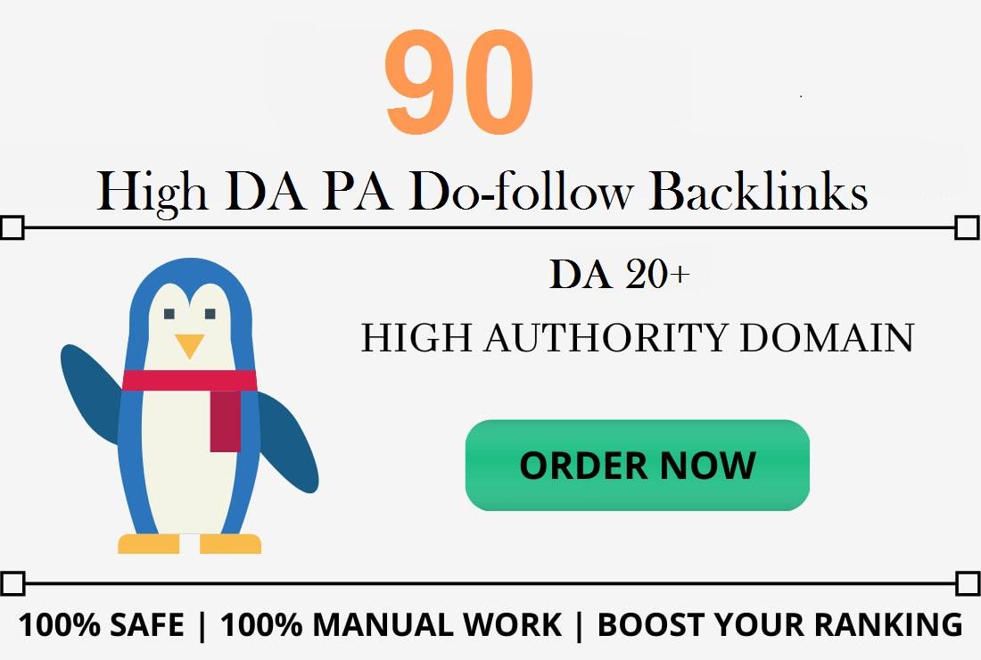 I will provide 90 do-follow backlinks DA 20+