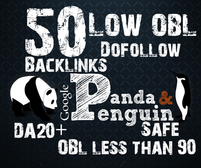 I will provide 50 do-follow backlinks with low obl
