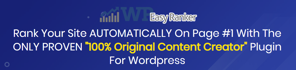 WP Easy Ranker Software rank page 1 on google!Covid-19 Sale!