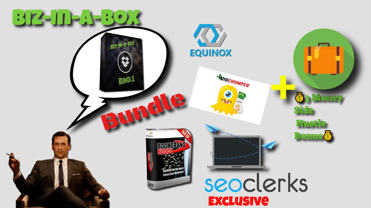 Biz-In-A-Box Bundle 3 softwares 3 mystery Bonuses included inside