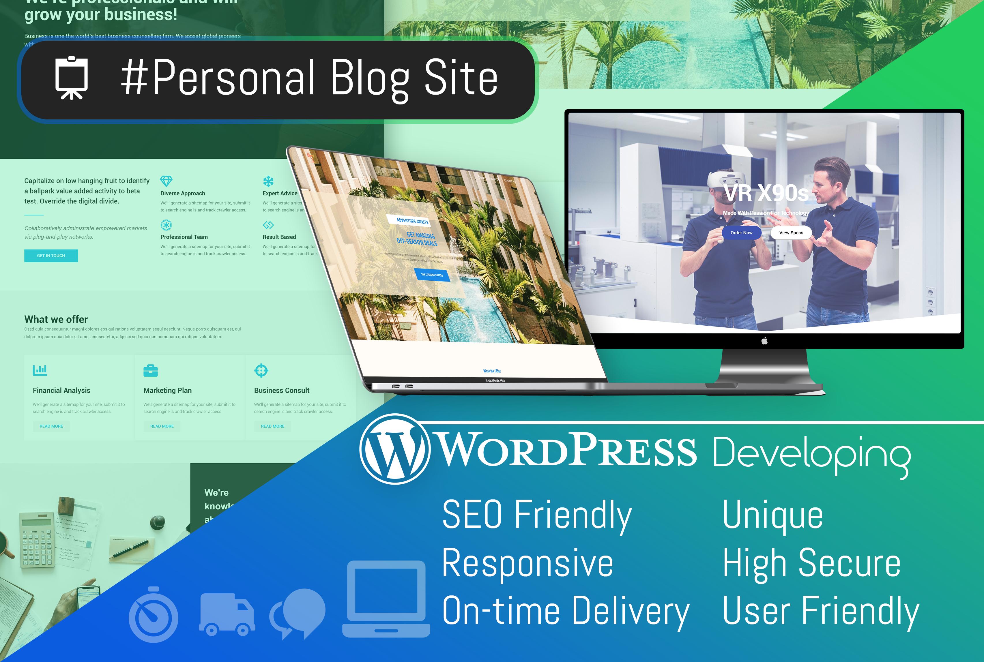 I Will Build Any Wordpress Website, Blog, Landing Page etc.