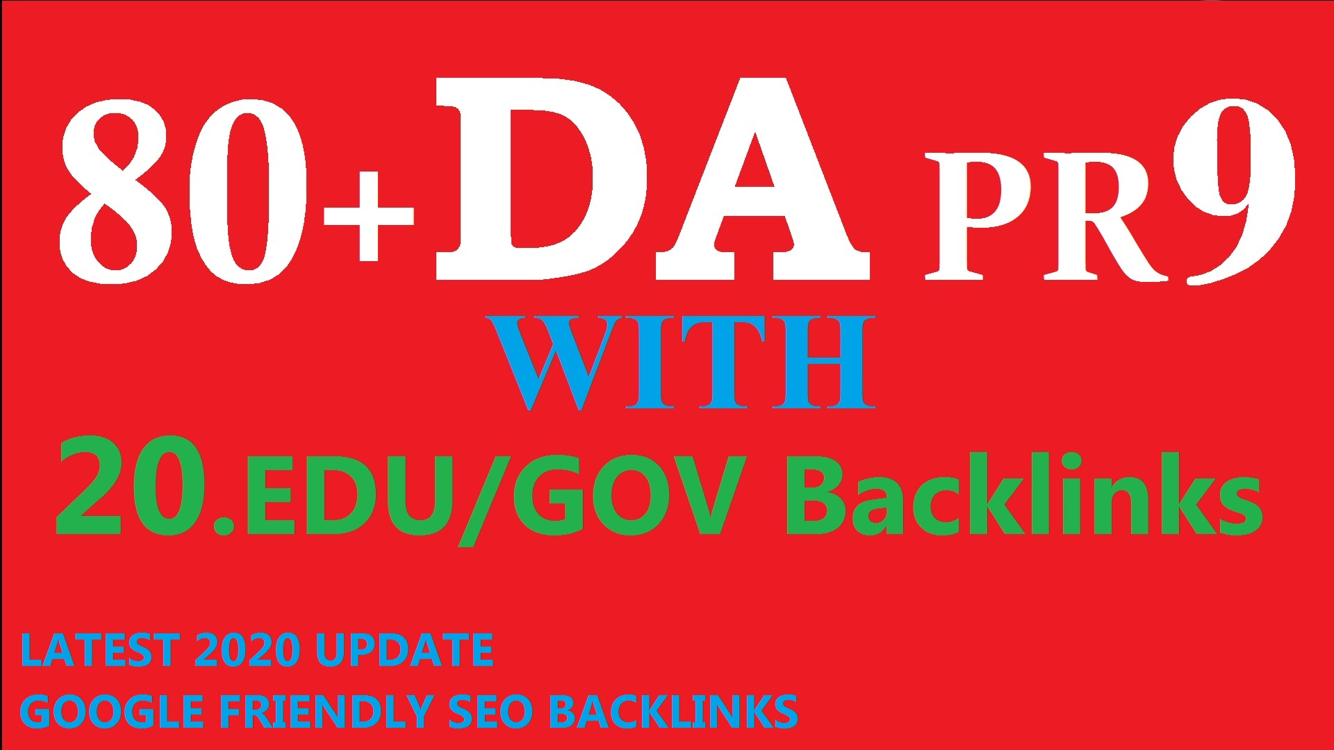 80+DA Links Juicy Boost your Ranking on Google 40 PR9 with 20 edu/gov High DA PR BacLinks to RANK yo