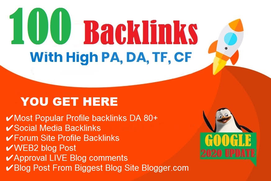 Top 100 links for rank boost on google bing yahoo top page with upto 100 high DA backlinks