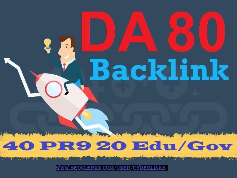 UPTO 100 DA 40 PR9+20 EDU/GOV Safe SEO High PR Backlinks Latest 2020 UPDATE