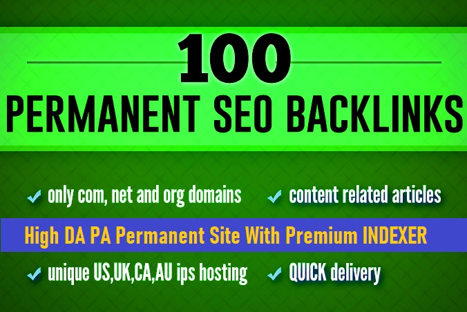 Build 100 Unique Backlinks from High 100 DA PA TF CF Site For increase your google top ranking