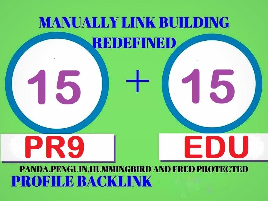 Exclusively-30 Backlinks 15 PR9 + 15 Edu/Gov 80+DA Trusted Authority Permanent SEO Backlinks