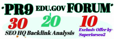 Build 60+ HQ SEO PROFILE LINK From PR9-EDU. GOV-FORUM Plus High Domain BACKLINKS