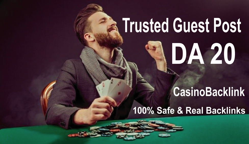 Write and Publish 1 Guest Post On Casino / Gambling Blog DA 20