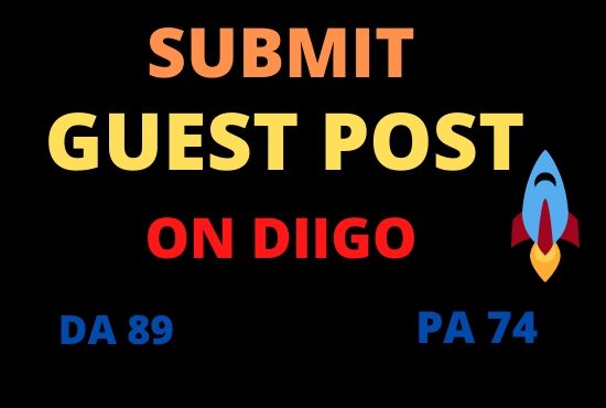 I Will Write And Submit A Guest Post On Diigo DA 89