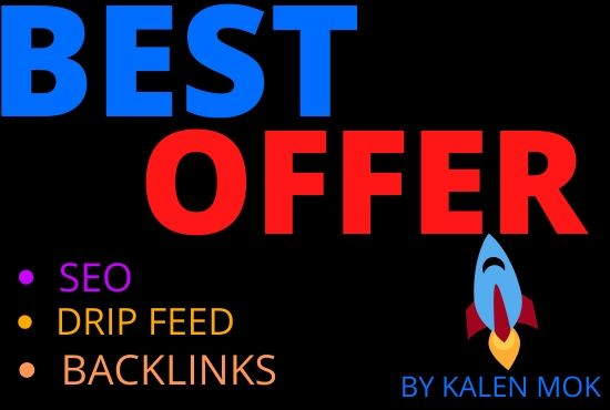 I will do 60 manual drip feed seo backlinks