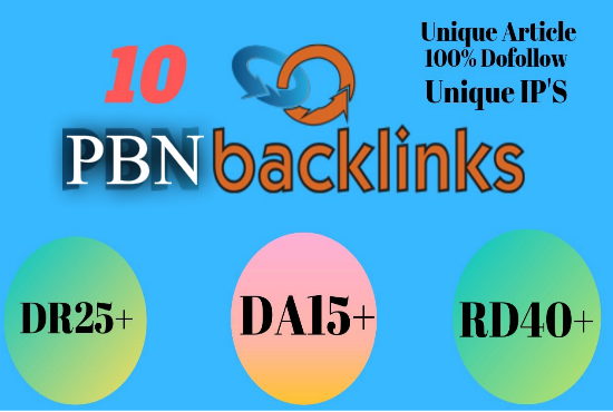 I will Provide 10 High DA, PA Contextual Dofollow PBN Backlinks