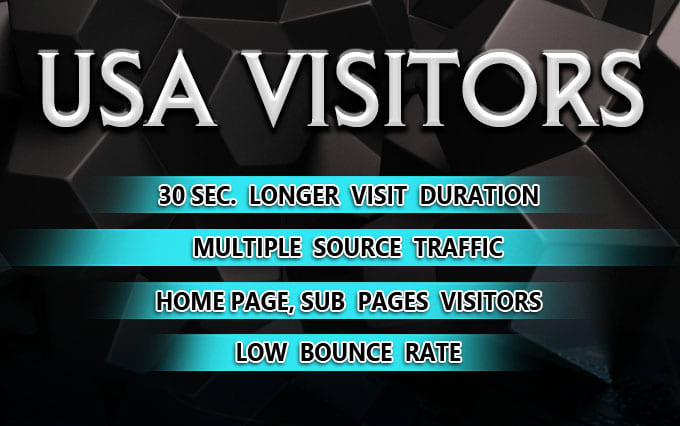 I will send low bounce organic web traffic,  from USA