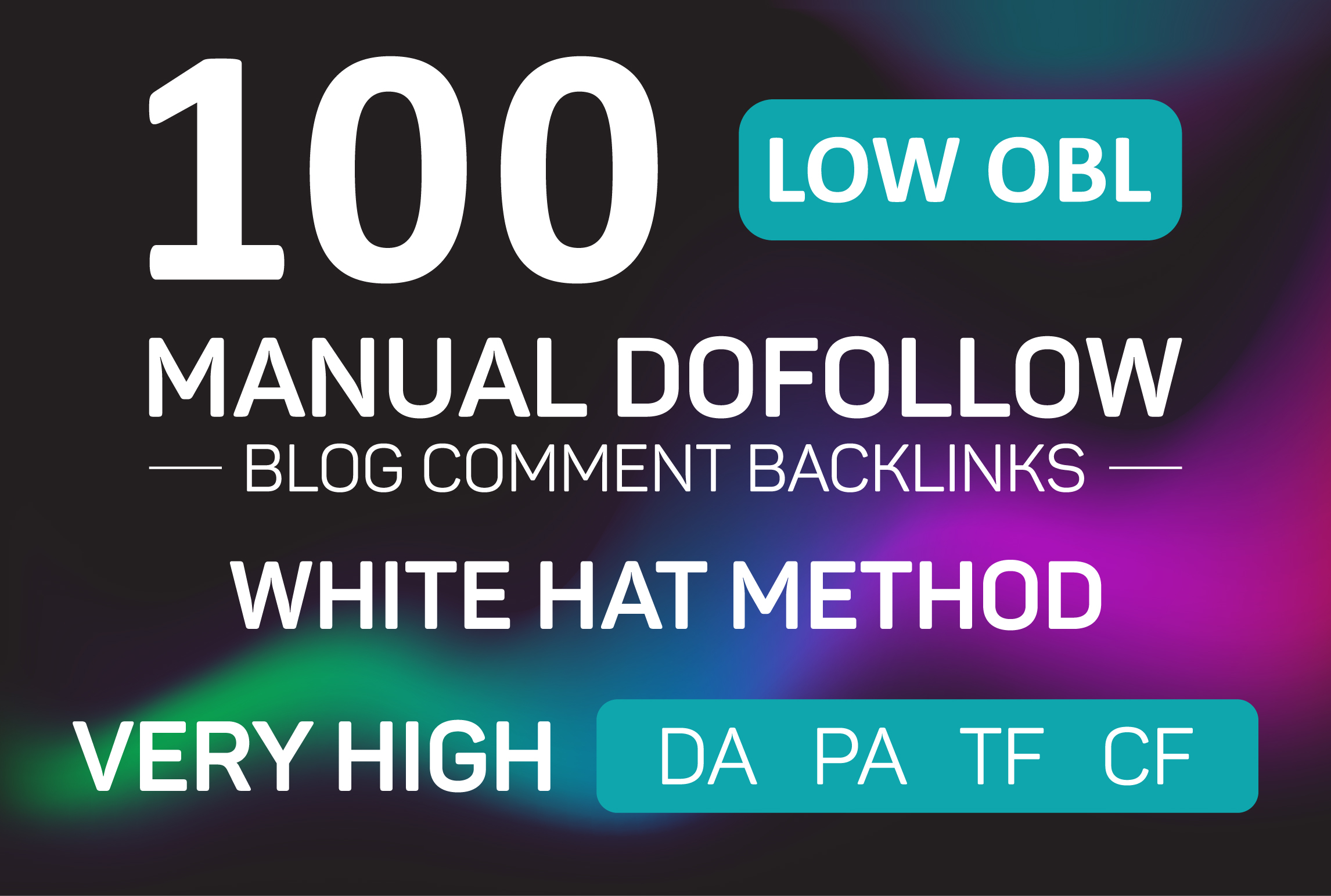 I will do 100 top quality low OBL manual dofollow blog comment backlinks