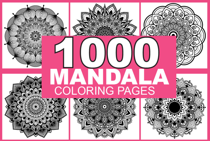 I will give 1000 Mandala Coloring Pages For Amazon Kdp