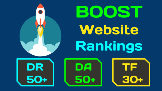 I will increase website metrics to dr50 moz da50 and majestic tf30 plus