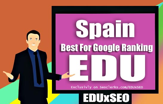Spain Based 400 EDU GOV permanent Backlink