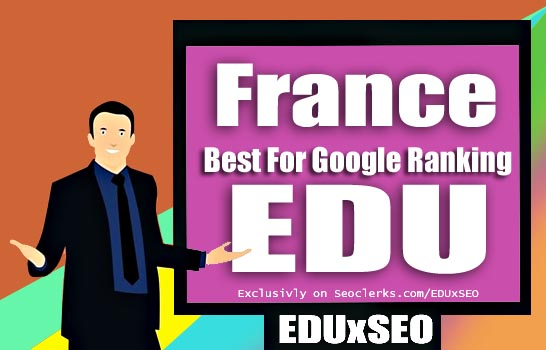France Based 400 EDU GOV permanent Backlink