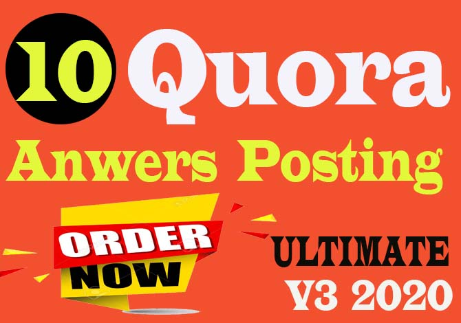 High Quality 10 Quora Answer and Posting with your keyword releted of Rank your website .