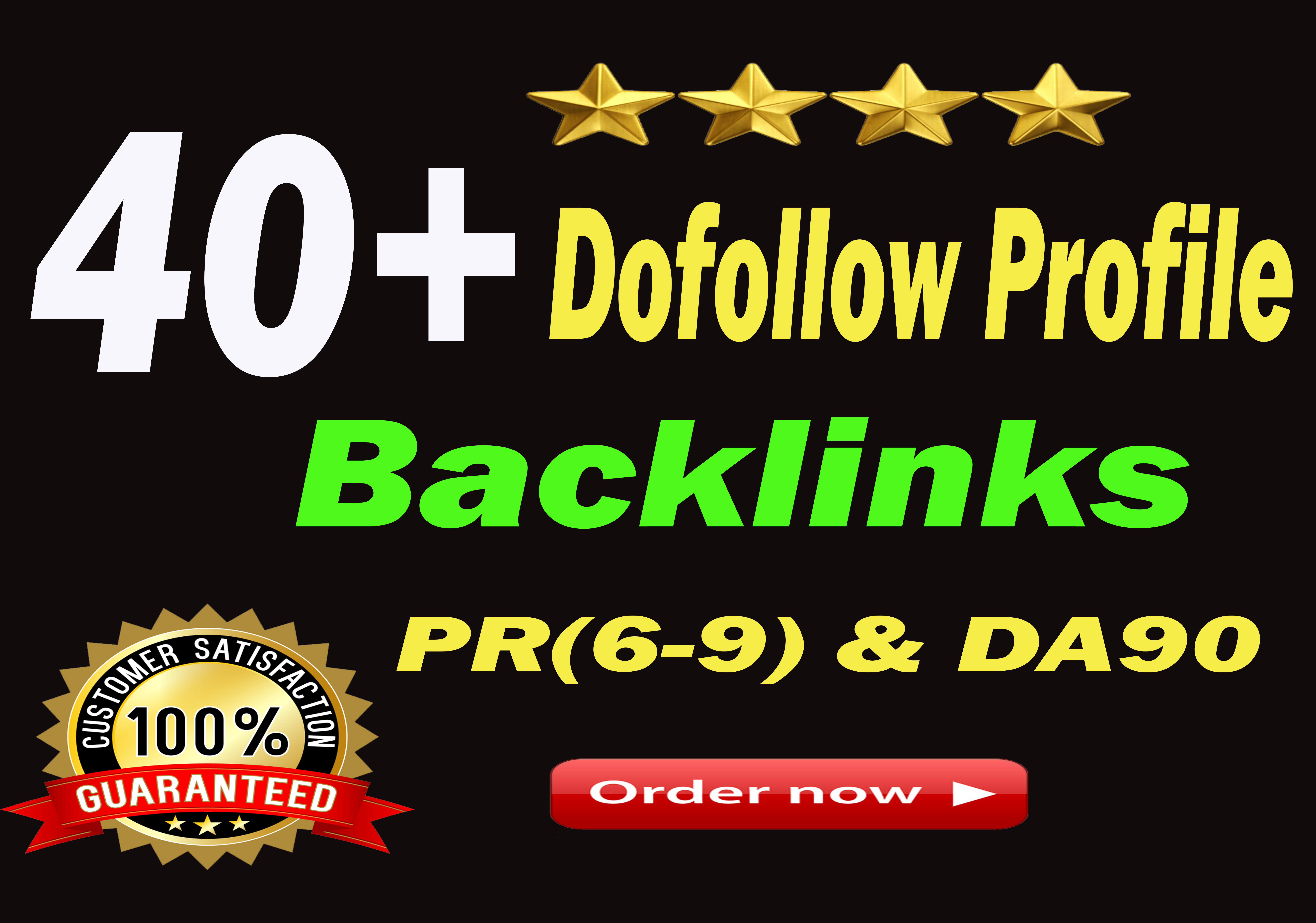Manully Create 40+ DA 90 and pr9 High Quality Dofollow Profile Backlinks