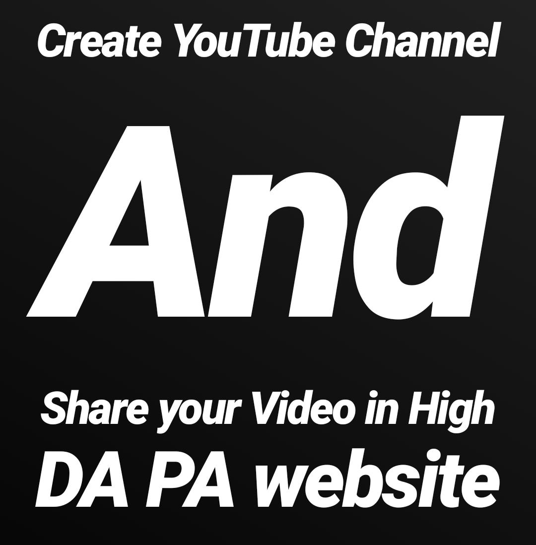 YouTube video in High DA PA website