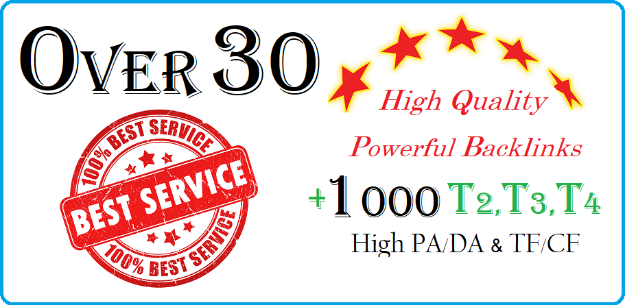 I Will Create High Quality Powerful Backlinks With High PA/DA & TF/CF
