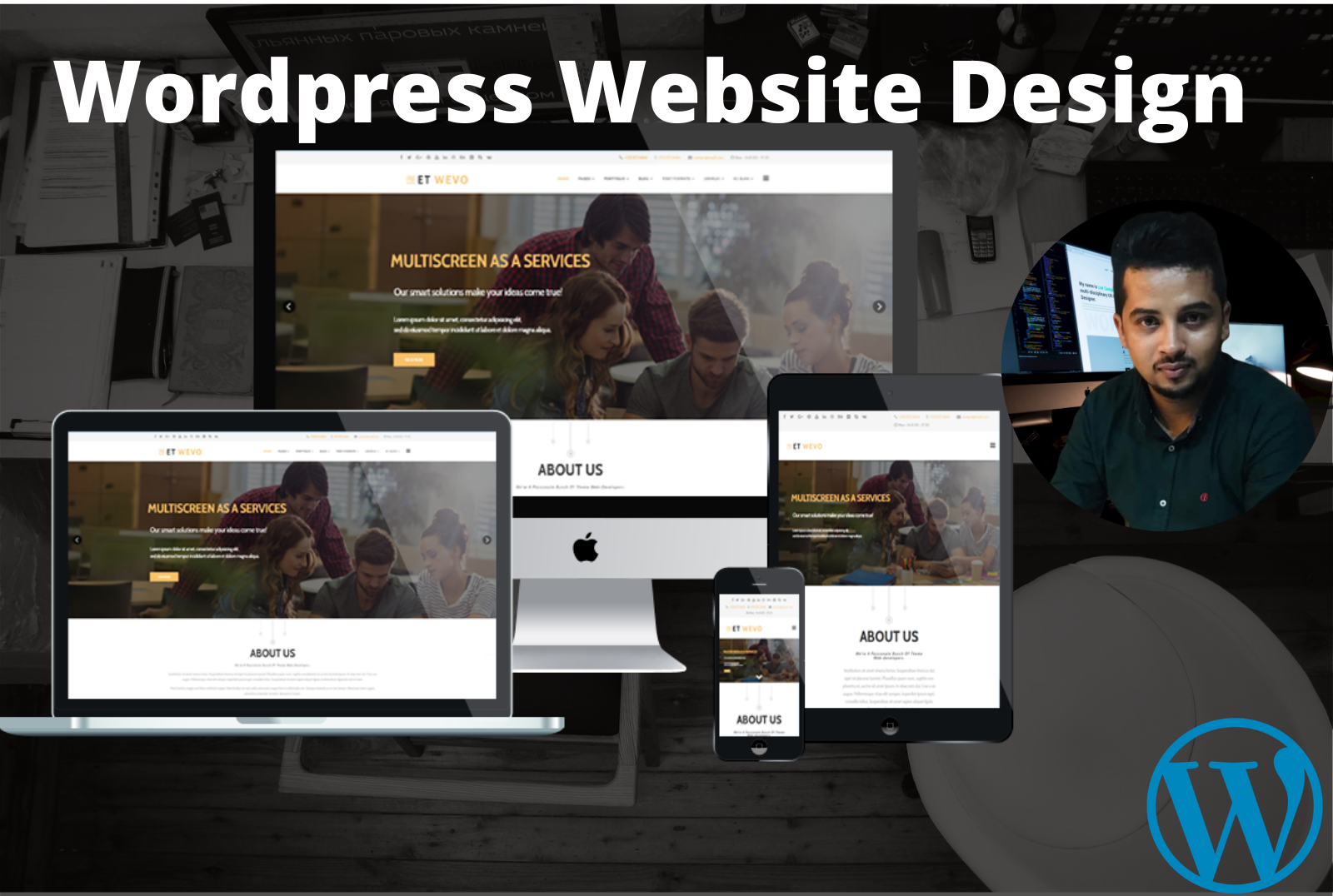 I will design fast loading,mobile friendly wordpress website fast