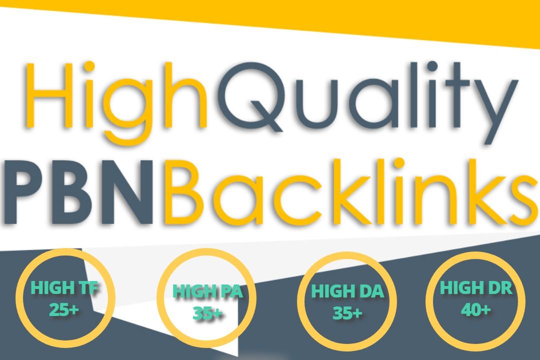 Build 30 High PA DA TF HomePage PBN Backlinks - Dofollow Quality Links