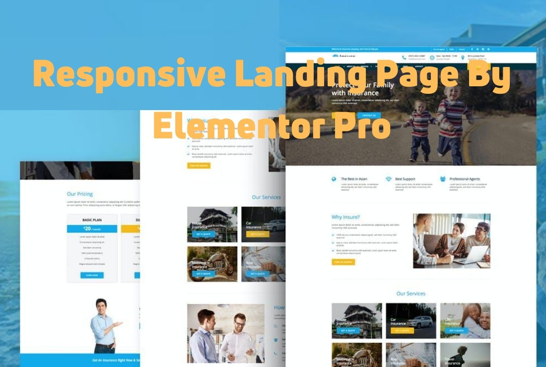 I will design well responsive modern look wordpress, elementor landing page