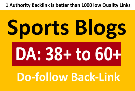 Sports blogs with high-quality backlinks with writing services