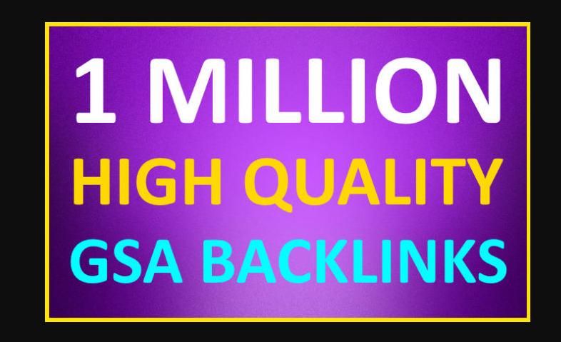 make 1 million high quality SEO backlinks