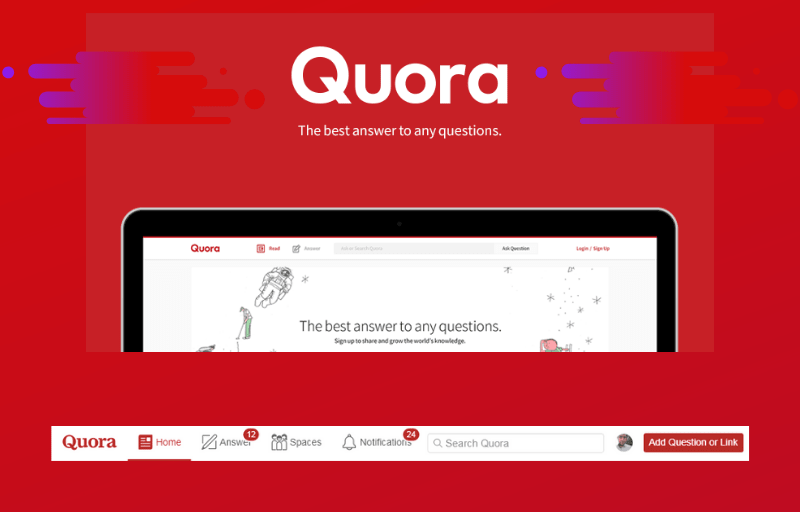 50 Quora response with website Keyword & LINK