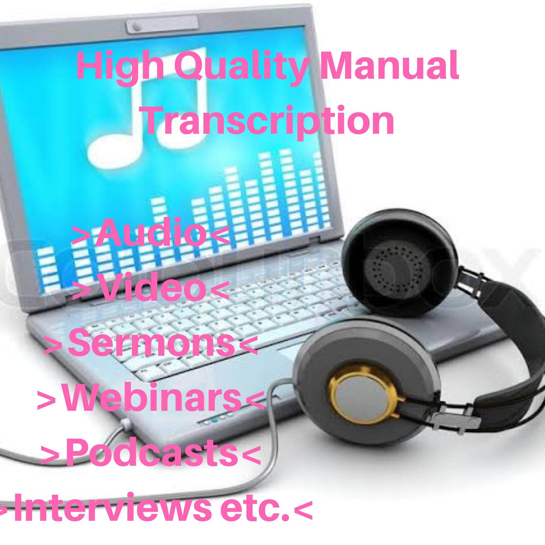 High Quality Manual 30 Minutes Audio Transcription in 48 Hours Or Less
