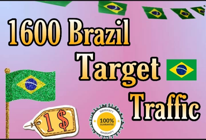 1600 BRAZIL TARGETED traffic to your website or blog