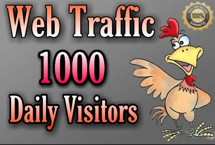 send 1000+ daily visitor ONE MONTH website or blog