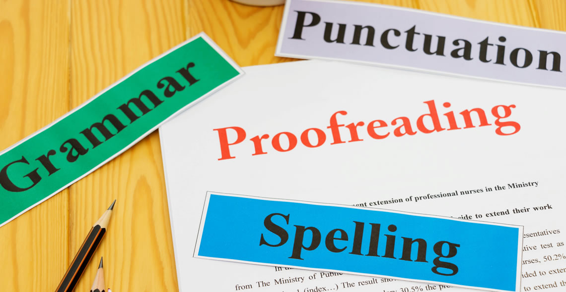 academic proofreading BA degree in english