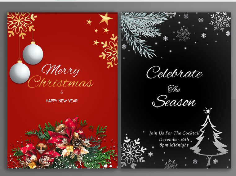 i will design new year greeting cards
