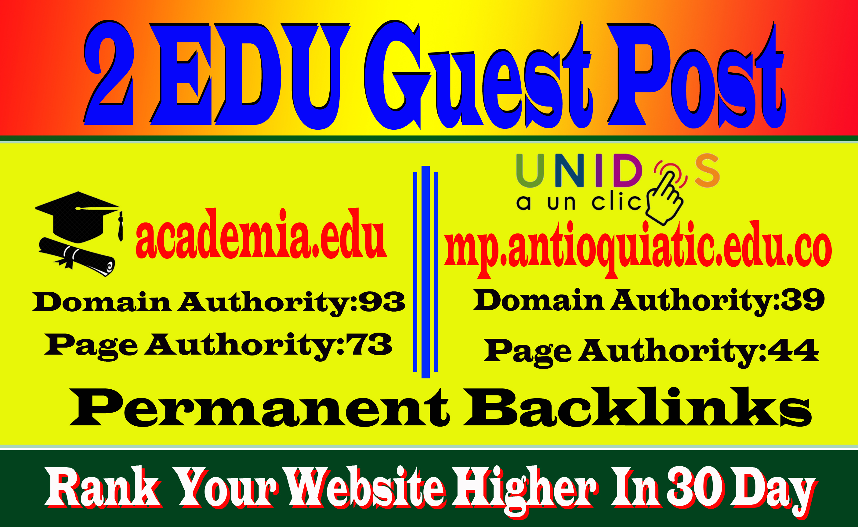 Write and Publish 2 Edu Guest Posts on High DA to Boost Keyword Ranking