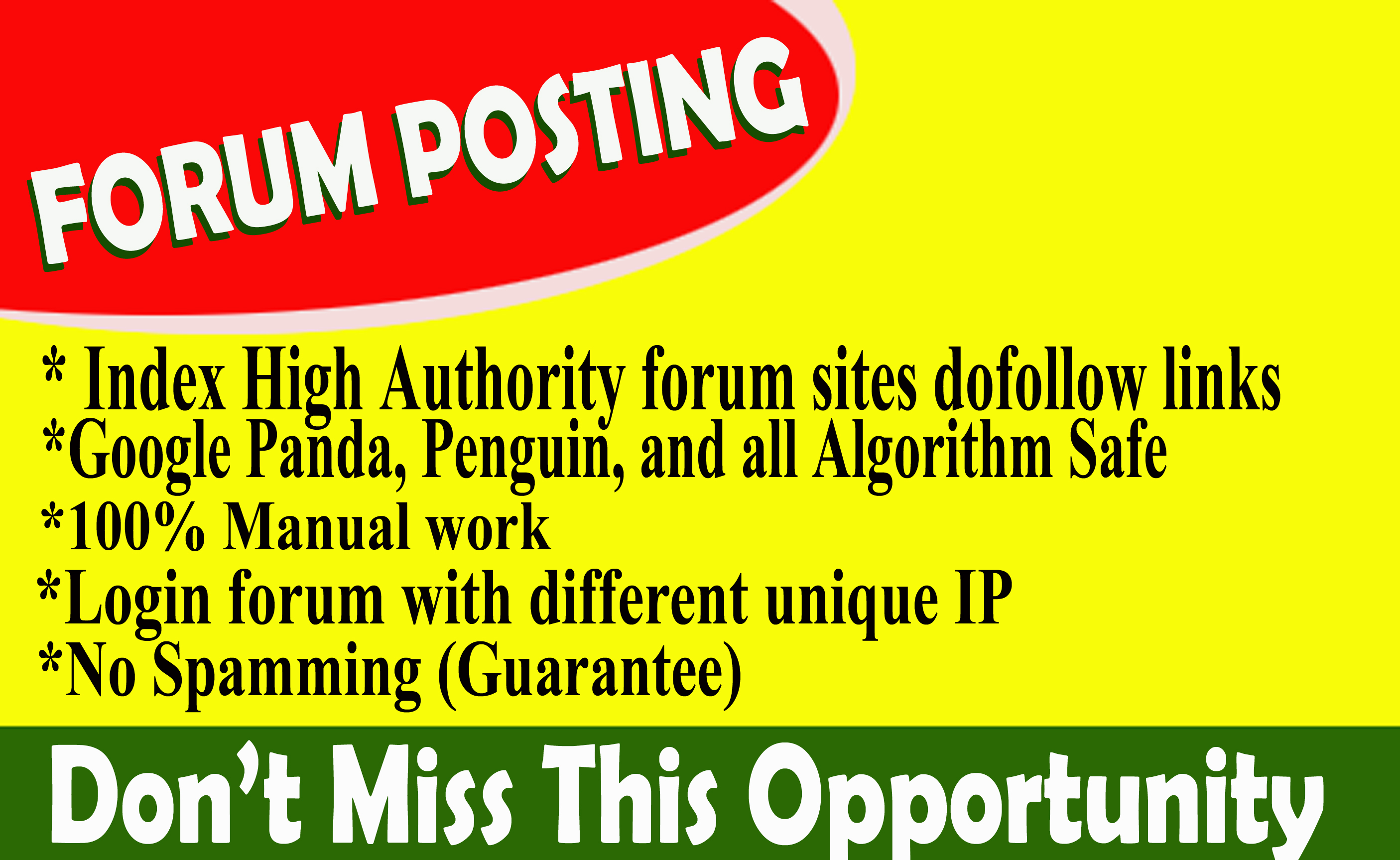 Provide 50 forum posting dof0llow backlinks on high DA30+, PA+ blog
