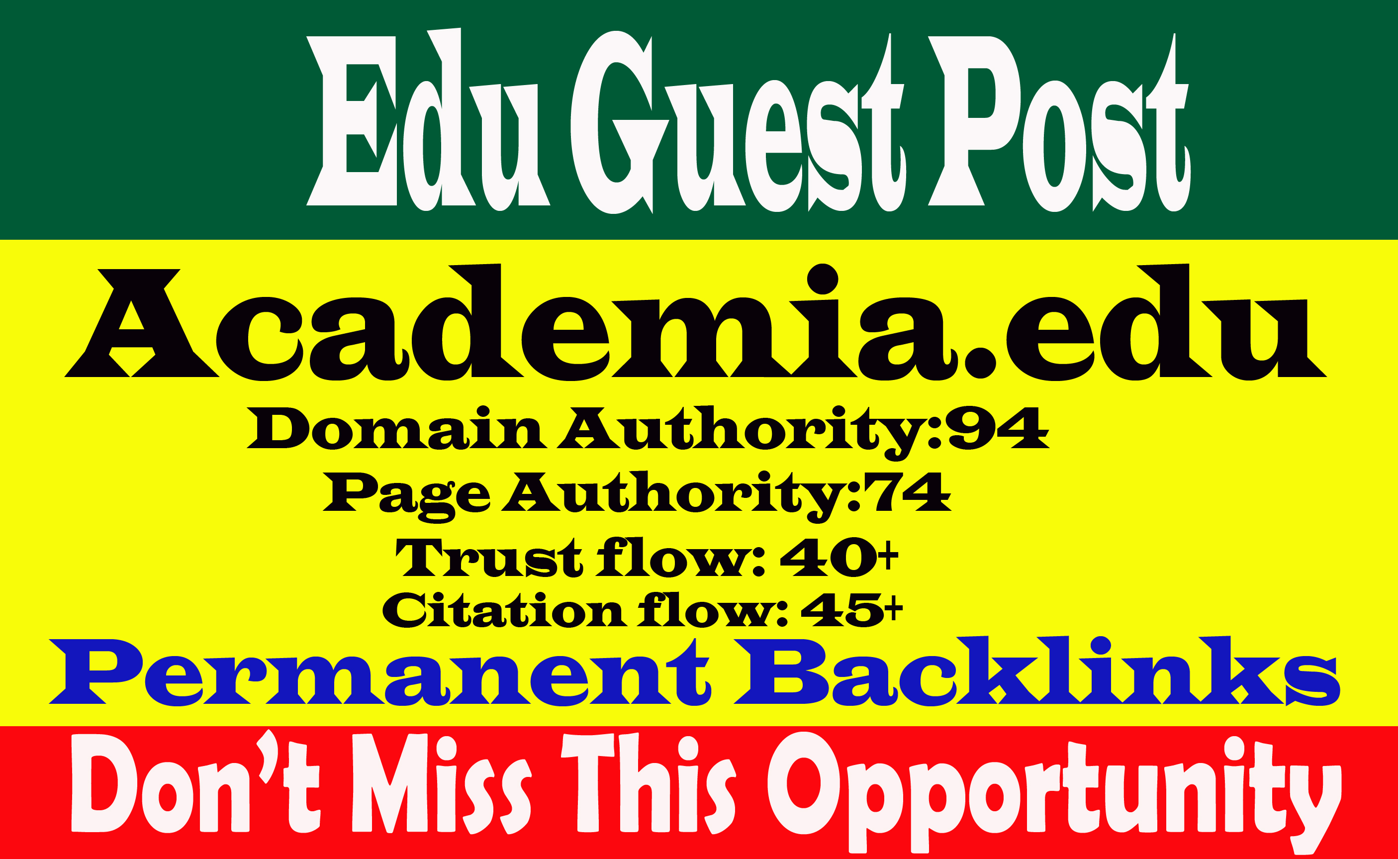 I Will Write And Publish A Edu Guest Post on Academia. Edu Da94