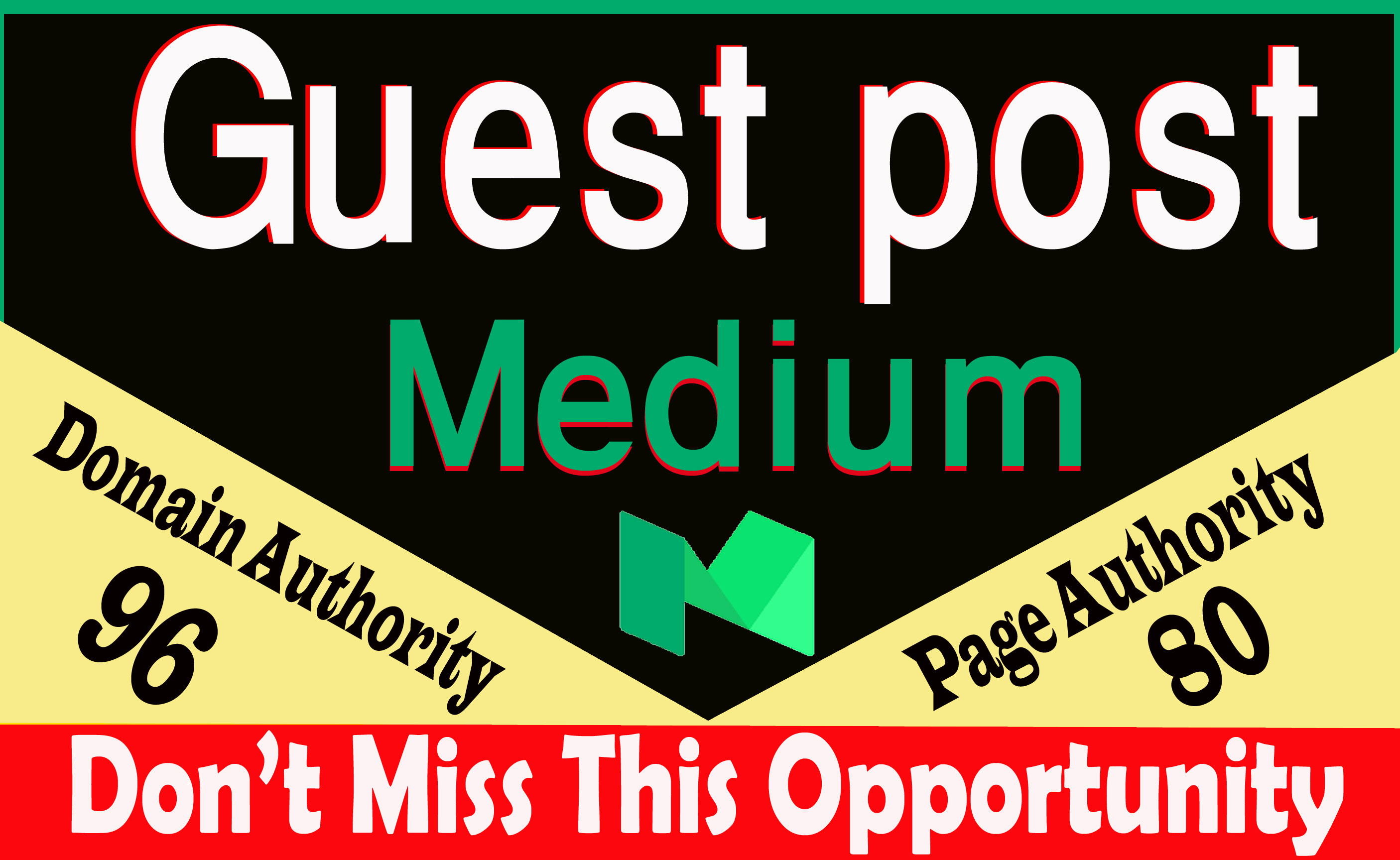 Write and publish guest post Medium. com DA-95,  100 index guarantee within 24 hours