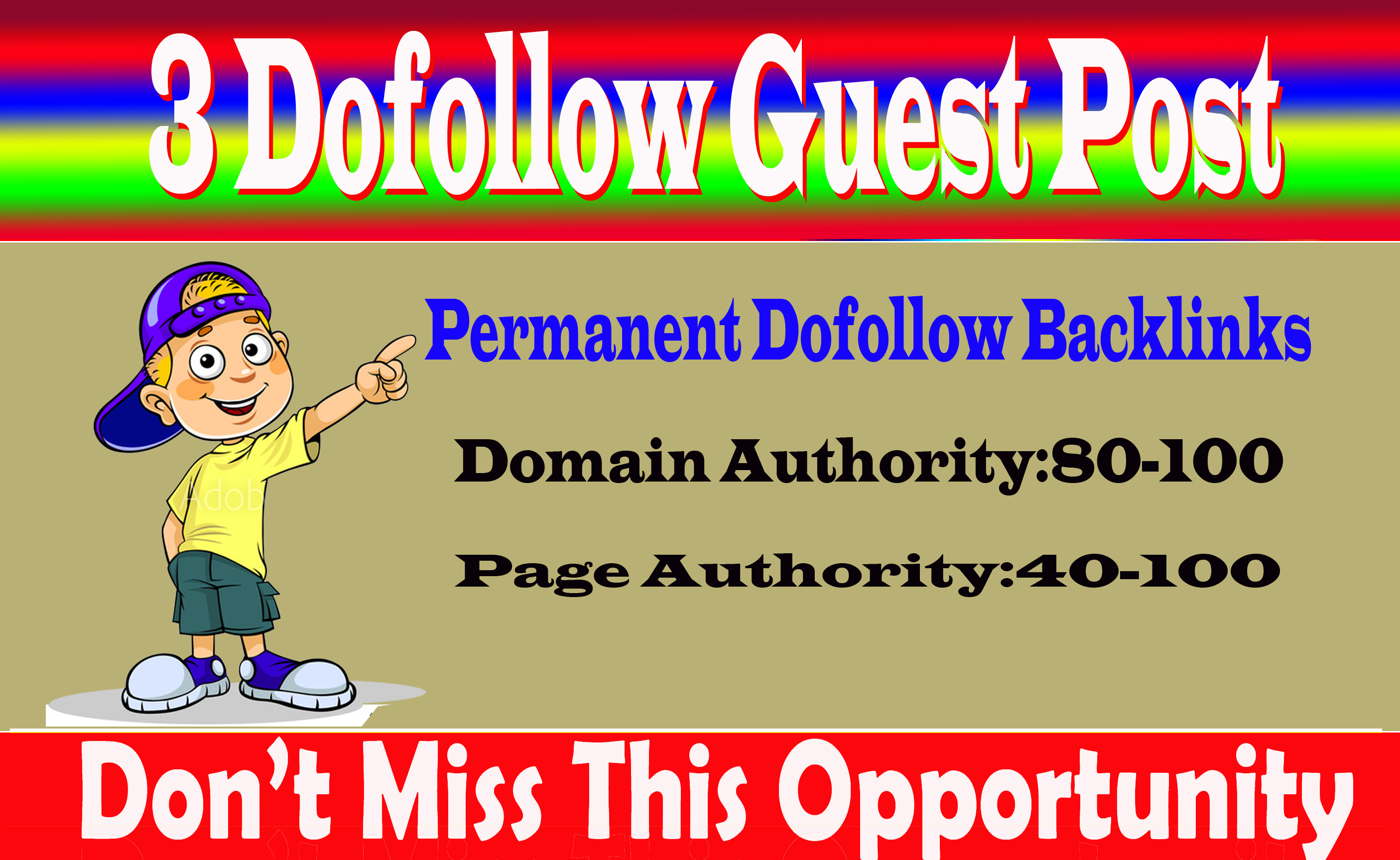 Write And Publish 3 Dofoll0w guest Posts On High DA 87+ Sites With Permanent Strong Backlink