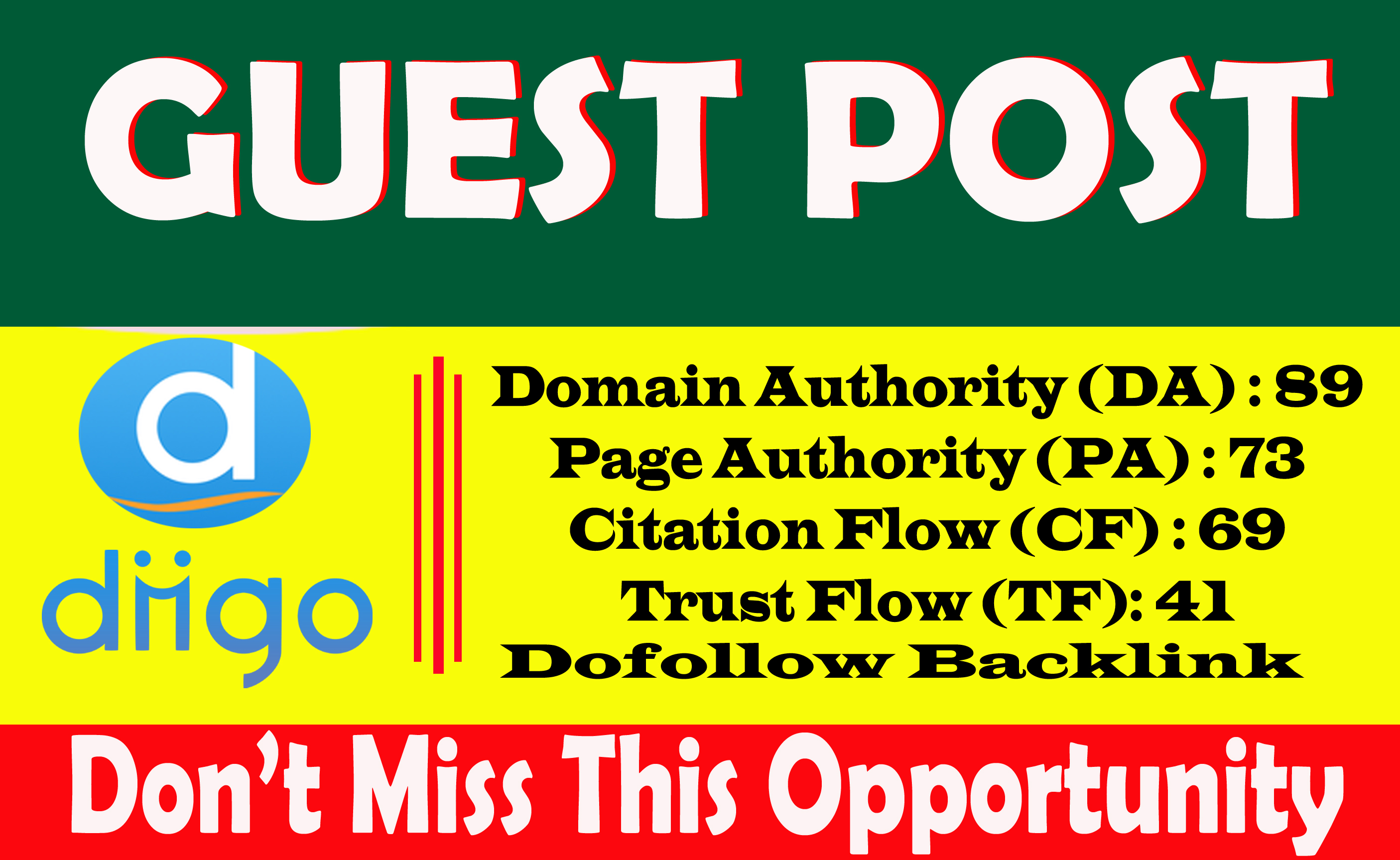Write And Publish A Guest Blog Post On Diigo. com DA89 With Index Guaranteed permanent backlinks