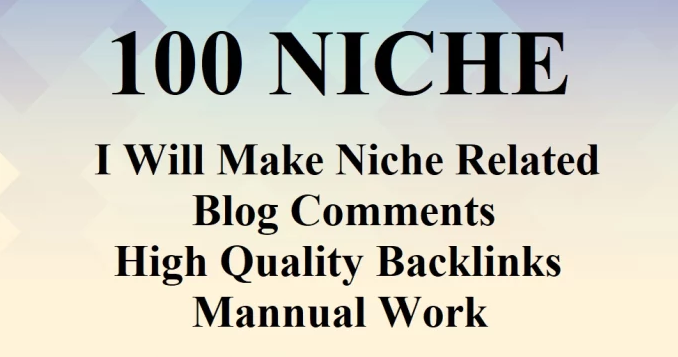 100 unique niche relevant blog comment backlinks
