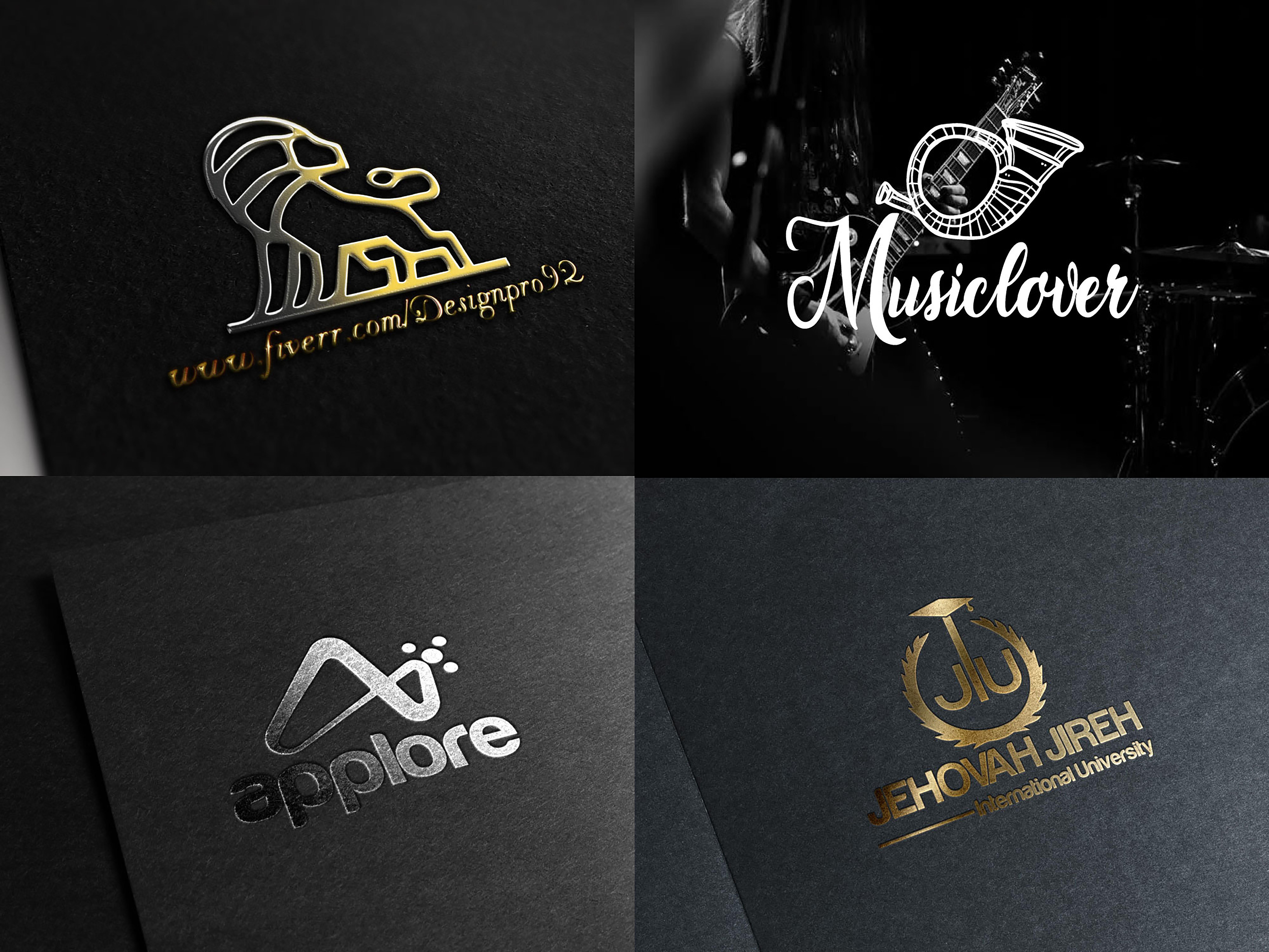 I will do luxury minimalist business logo design with copyright