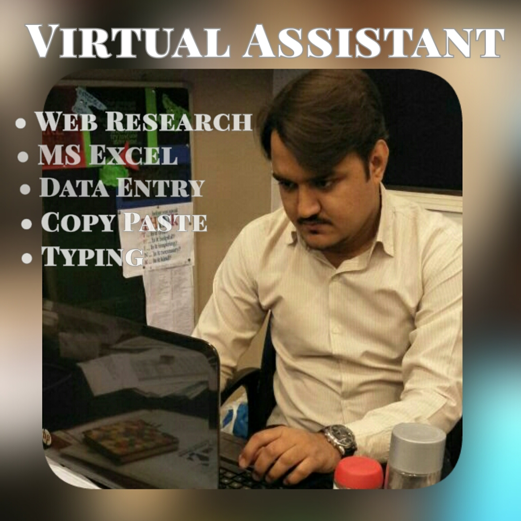 I am your virtual assistant for data entry,  data mining,  copy paste,  web research