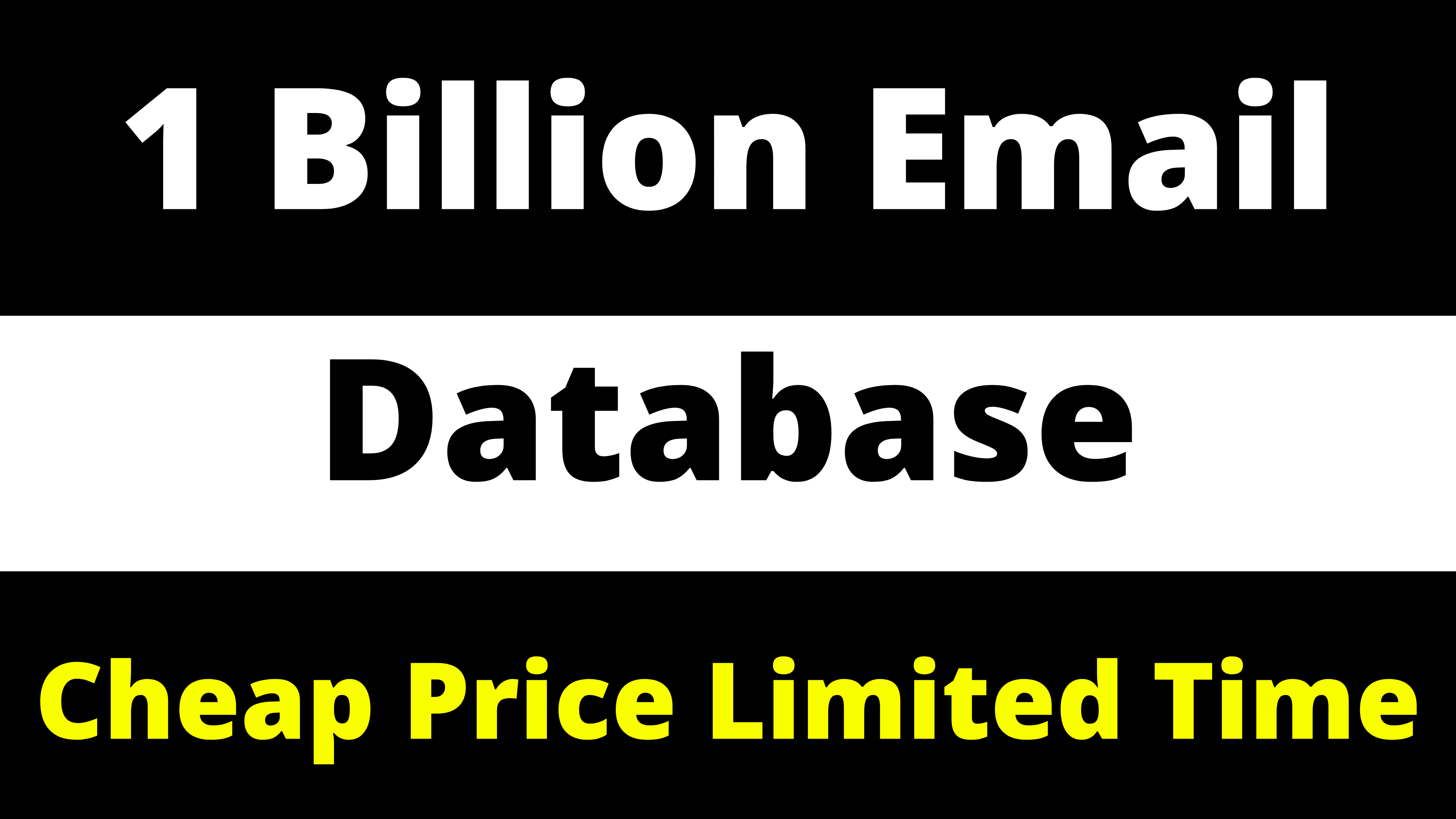 1 Billion Email Database Worldwide Cheap Price For Email Marketing