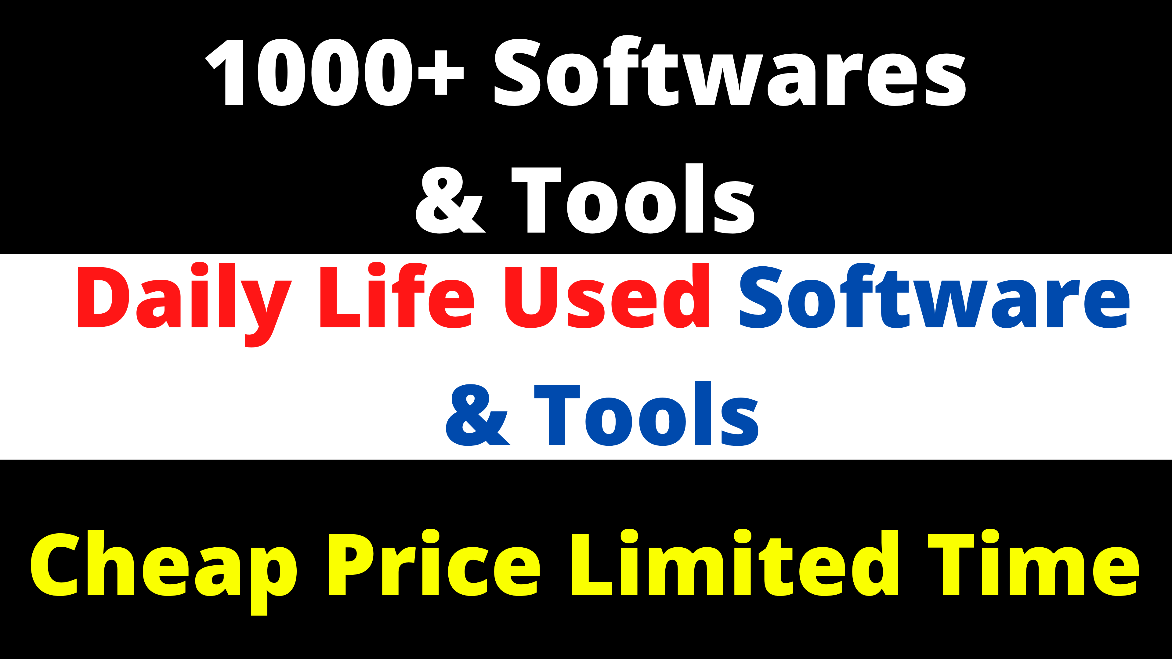 Daily Life Used 1000+ Softwares And Tools For SEO Traffic And Marketing