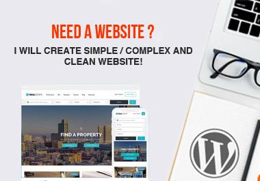 I wii Build Responsive Professional WordPress Website