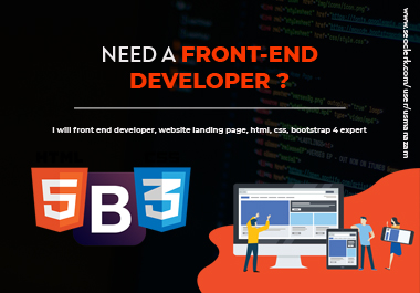 I will do responsive front end web development,  HTML css bootstrap